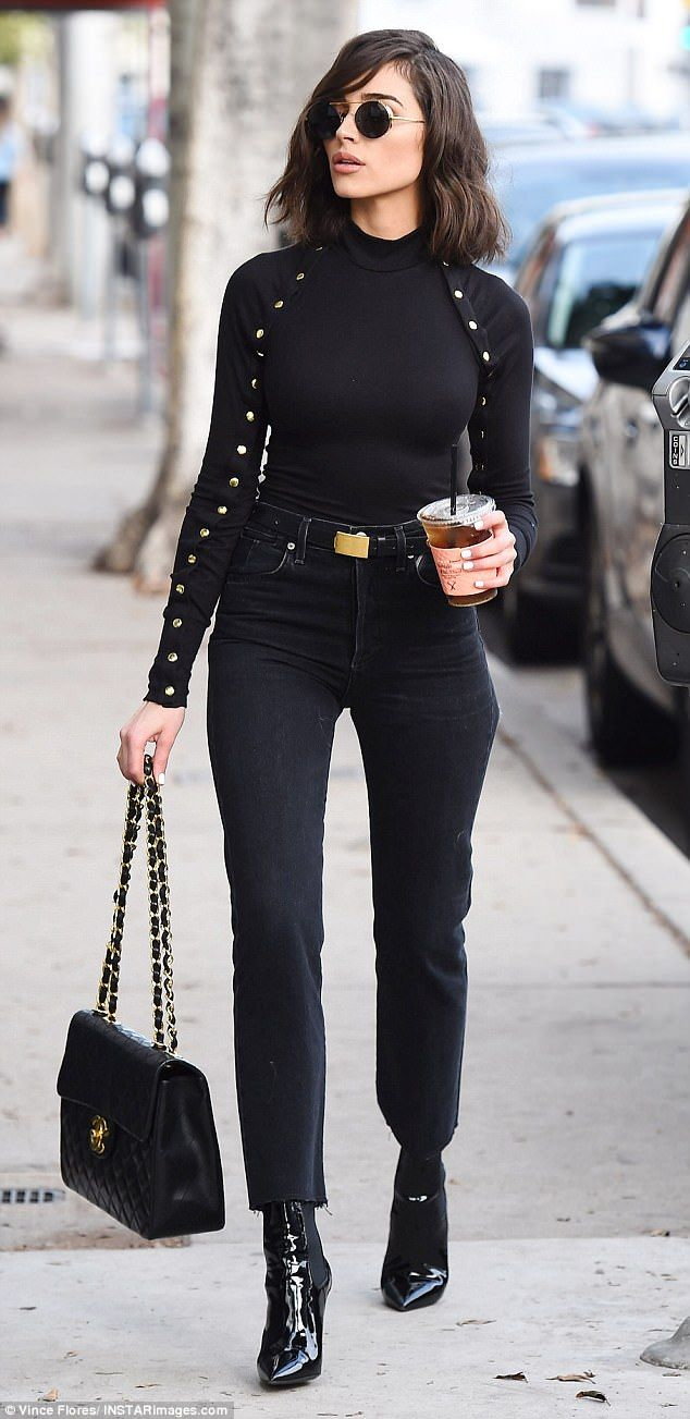 Hello gorgeous: Olivia Culpo hit the streets of Los Angeles in a body hugging ensemble on...