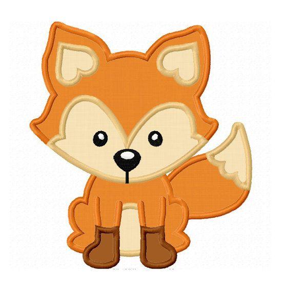 Fox Applique Machine Embroidery Design by LovelyStitchesDesign, $2.99