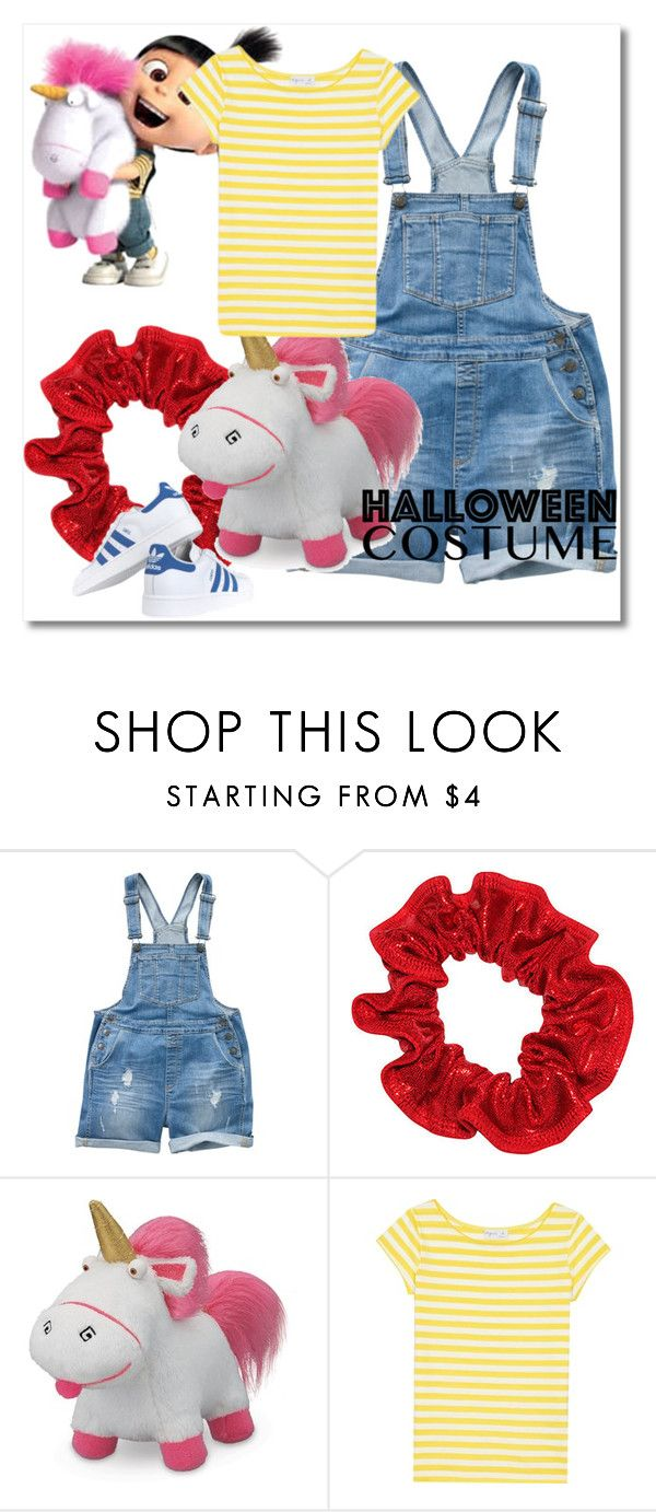 """""""Agnes Despicable Me Diy Costume"""" by gyambrek ❤ liked on Polyvore featuring Fat Face, WALL, adidas Originals, agnès b., halloweencostume and DIYHalloween"""
