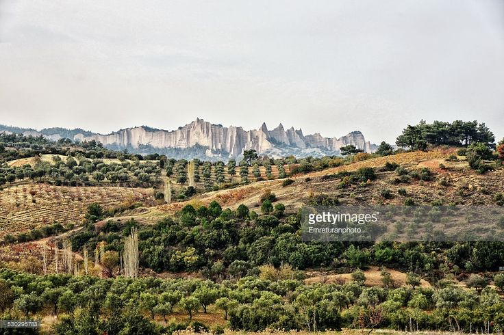 Typical countryside view in Aegean Turkey with hills at the background and fertile lands where all types of agriculture is possible, taking up to 3-4 crops per year.