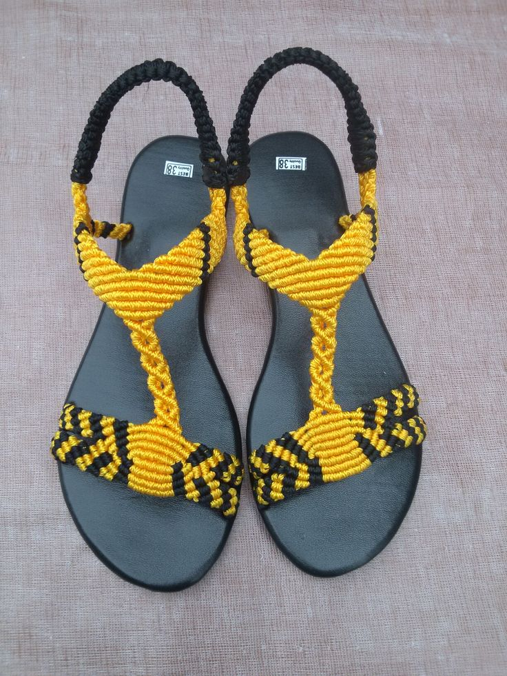 1000 Images About Macrame Sandals On Pinterest Tes