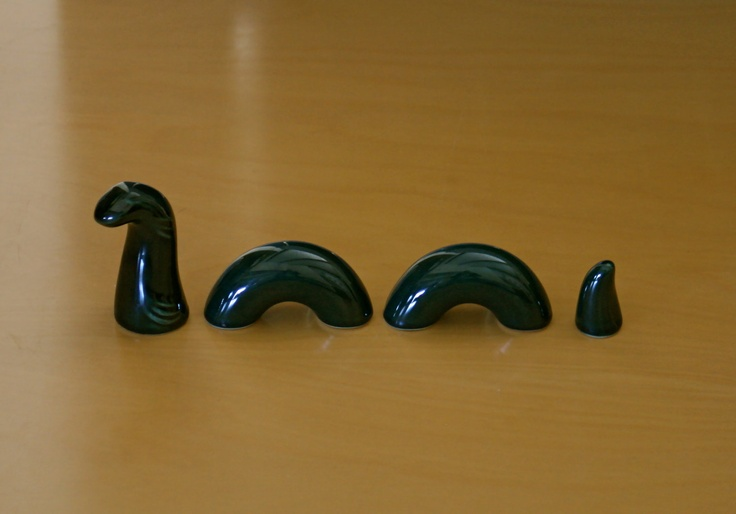 Vintage Mid Century Loch Ness Monster Figurine High Glaze