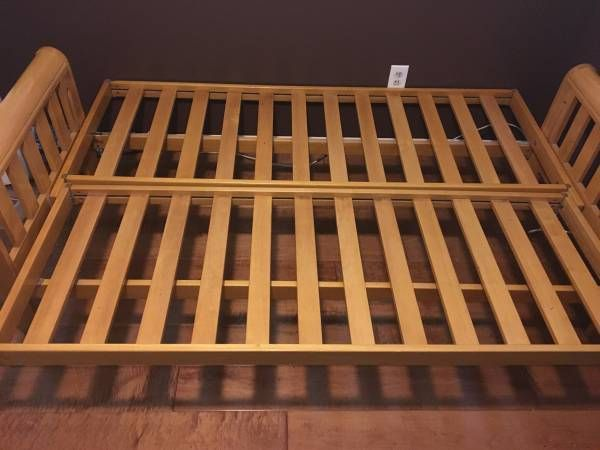 This Is What A Hard Wood Futon Frame Should Look Like. Notice How The Slats