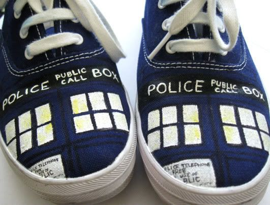 2. Painted TARDIS Keds | 24 Crafts To Totally Geek OutAbout
