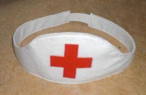 Krankenschwesterhaube (Spielzeug) mit Bildanleitung und Pdf Schnitt-Vorlage