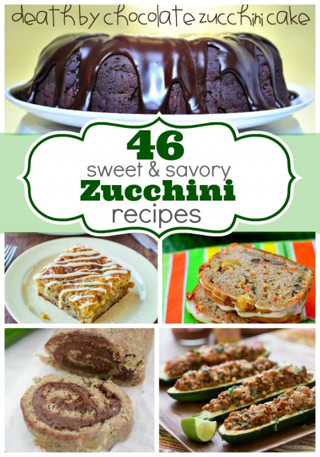 Gonna need this from all the zucchini in my garden! 46 Sweet and Savory Zucchini Ideas - Crazy for Crust