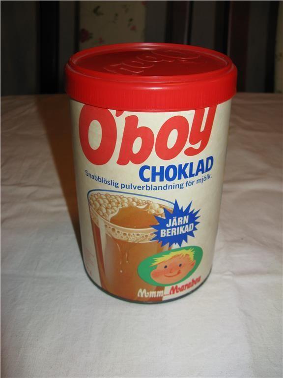 O'boy Choklad, Marabou, Sweden