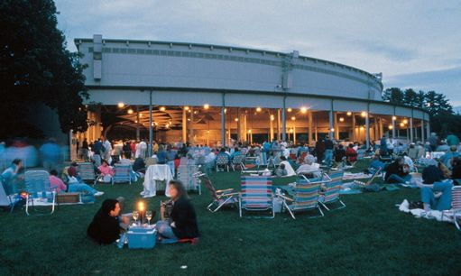 Tanglewood, the summer home of the Boston Symphony Orchestra. Beautiful; great place for a relaxing, midday picnic.