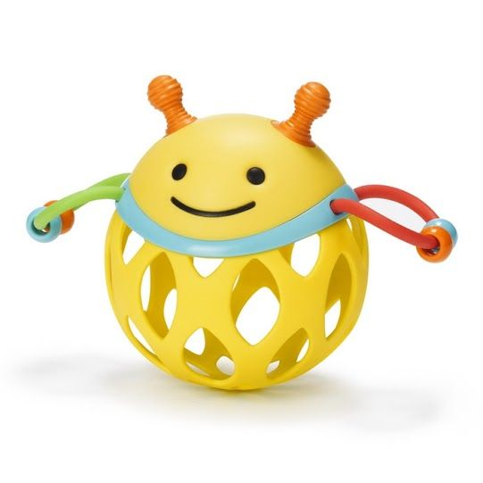 Baby toys from Skip Hop are adorably cute, delightfully designed and tons of fun, like this cheery Bee roll around rattle!