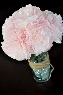 how to make paper peonies out of coffee filters