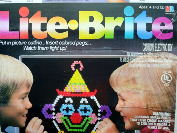 Vintage Lite Brite Electronic Toy 1990 by WylieOwlVintage on Etsy, $45.00