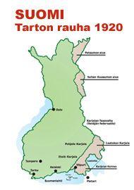 Koko Suomen kartta vuodesta 1920