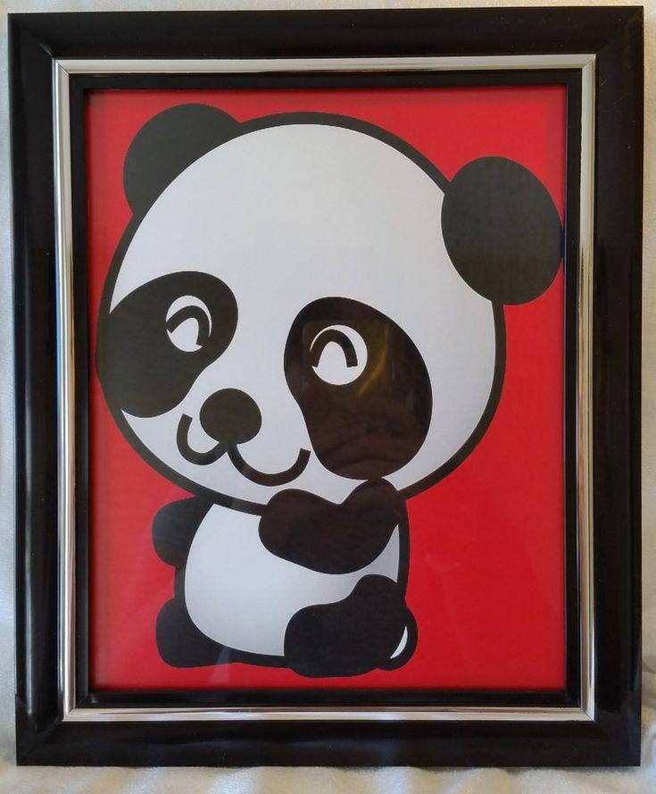 High Contrast Baby Art| Nursery Decor| Infant Visual Stimulation| Panda2