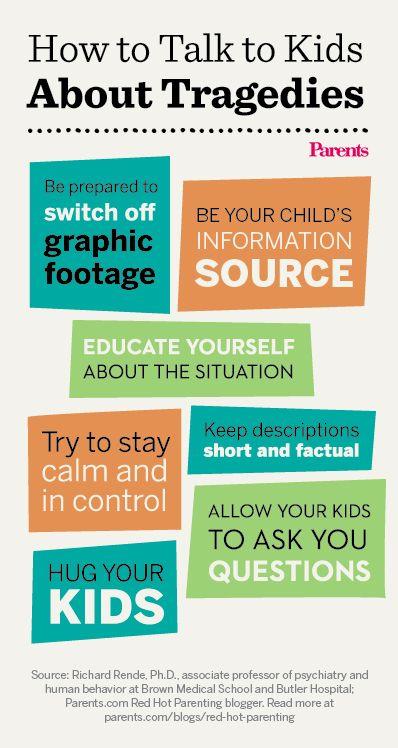 7 tips for explaining tragedies to children