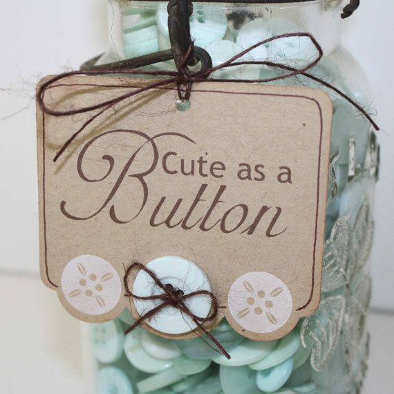 cute as a button baby shower | Cute as a button tags / Baby shower favor tags or gift tags / set of 6 ...