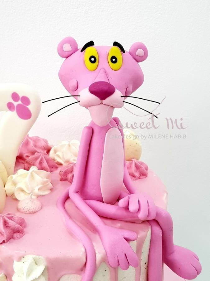 Pink Panther Cake By Milene Habib Con Imagenes La Pantera