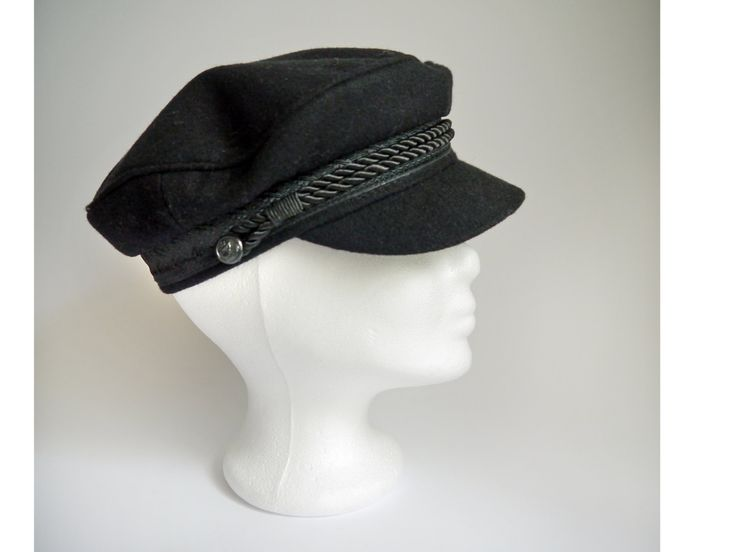 Fishermans Cap Sailor hat Captain Cap Original Prins Heinrich cap black cotton from Germany / Unisex hats / Deadstock never used by SuitcaseInBerlin on Etsy