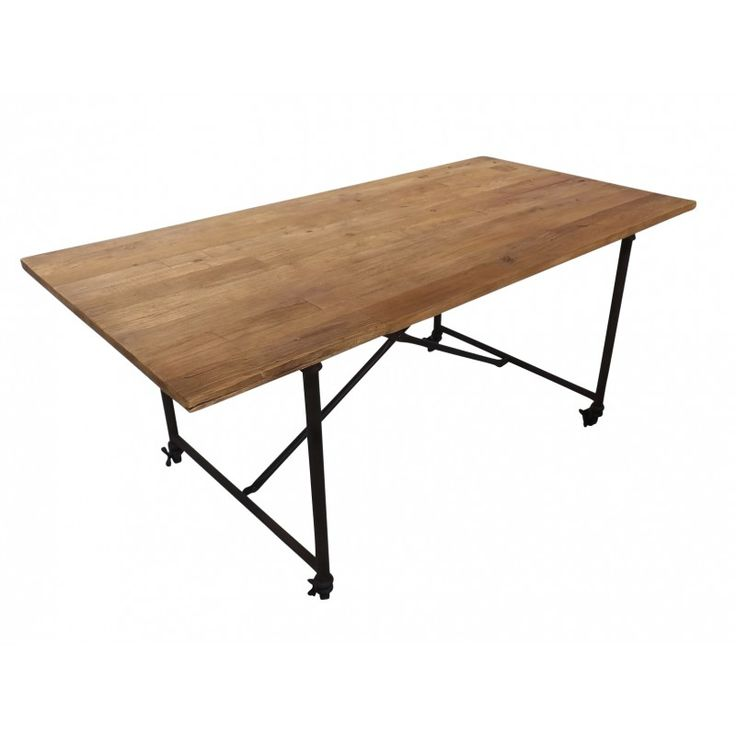 French Industrial Dining Table on Castors 9