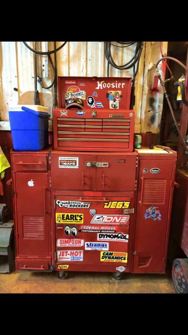 Homemade tool chest with secret compartment