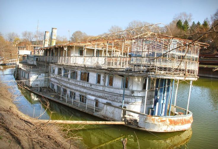 Beached in the city of Szeged, this abandoned riverboat is understood to be the Szoke Tisza, one of Hungary's largest and most important river steamers, launched in 1917. She's now little more than a haunting hulk of an elegant age.