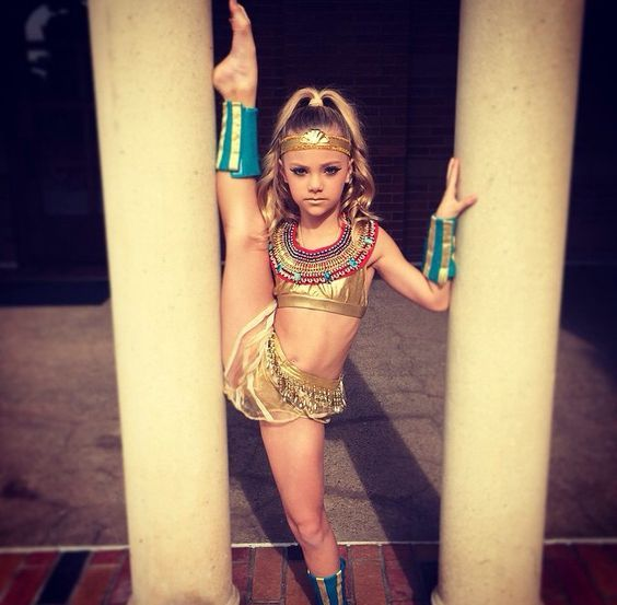 "Peyton Heitz in her Egyptian Doll costume for the Debbie Allen ""Hot Chocolate Nutcracker"":"