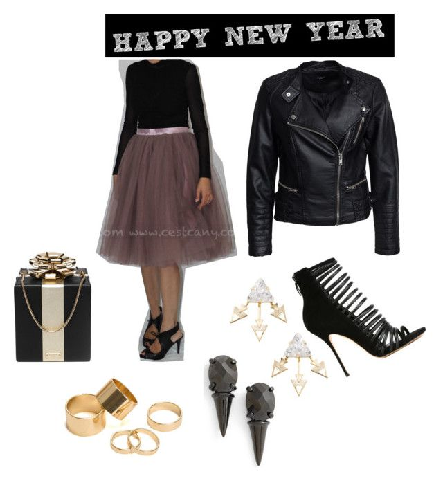 """""""NYE Outfit"""" by melissapage on Polyvore featuring Sisters Point, Casadei, Kate Spade, Elizabeth Cole and Pieces"""