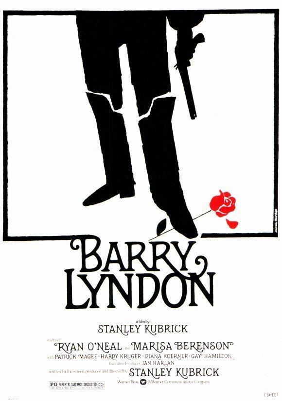 """Barry Lyndon"" (1975). COUNTRY: United Kingdom. DIRECTOR: Stanley Kubrick. SCREENWRITER: Stanley Kubrick (Novel: William Thackeray). CAST: Ryan O'Neal, Marisa Berenson, Leon Vitali, Patrick Magee, Mary Kean, Philip Stone, Hardy Krüger, Gay Hamilton, Wolf Kahler"