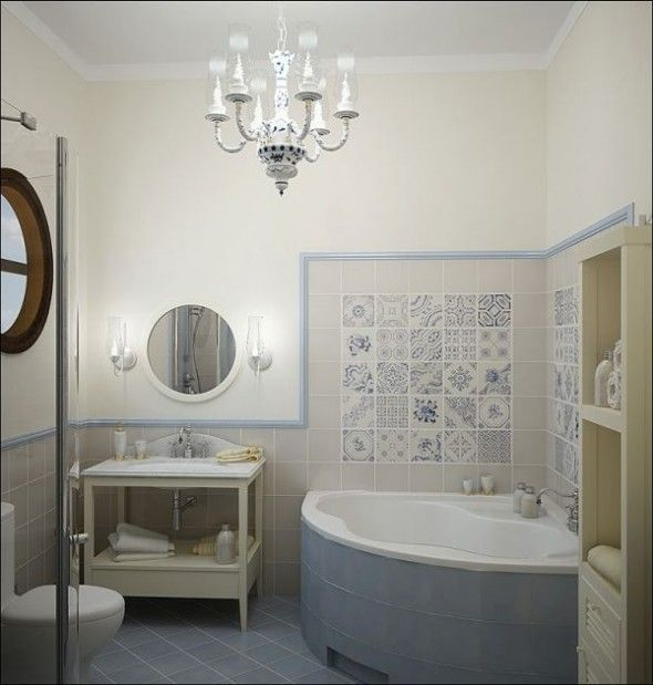 Although bigger than our bathroom i like this tub small bathroom idea - from a different angle