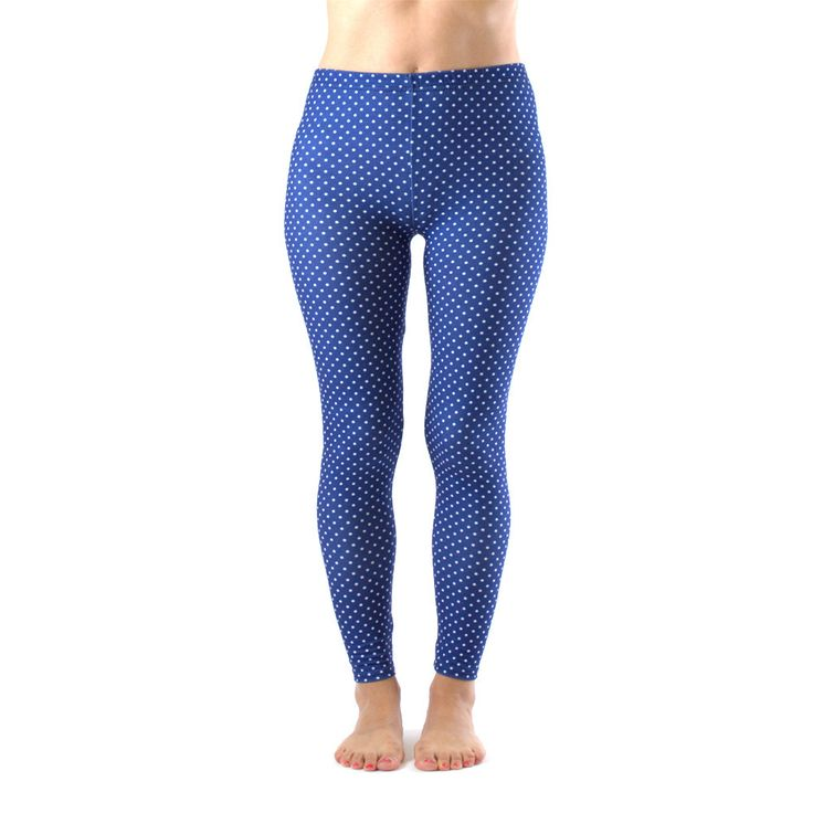 Dinamit Juniors' Ankle Length Blue and White Leggings