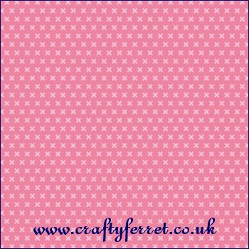 Pink crosses on pink background craft backing paper from www.craftyferret.co.uk