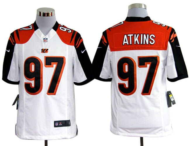 Nike NFL Jerseys Cincinnati Bengals Geno Atkins #97 White  Reliable online store for cheap NIKE NFL Cincinnati Bengals  Jerseys, 2012 New collection, top quality with most favorable price. please click: http://digjersey.com/nike-nfl-jerseys-cincinnati-bengals-c-129_133.html