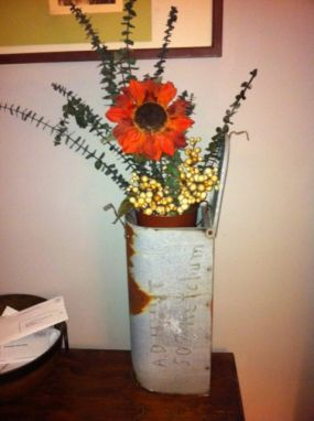 old mailbox made into vase