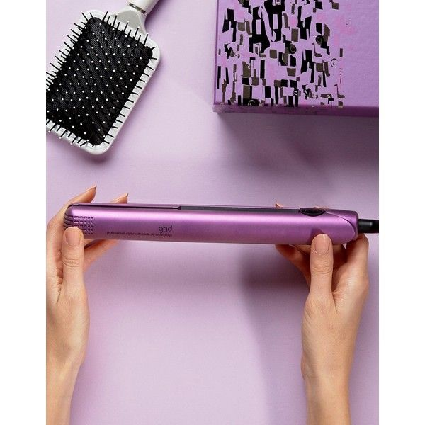 ghd Limited Edition Purple IV (180 AUD) ❤ liked on Polyvore featuring beauty products, haircare, hair styling tools, blow dryers & irons, purple, ghd, straight iron, styling iron, flat iron and straightening iron