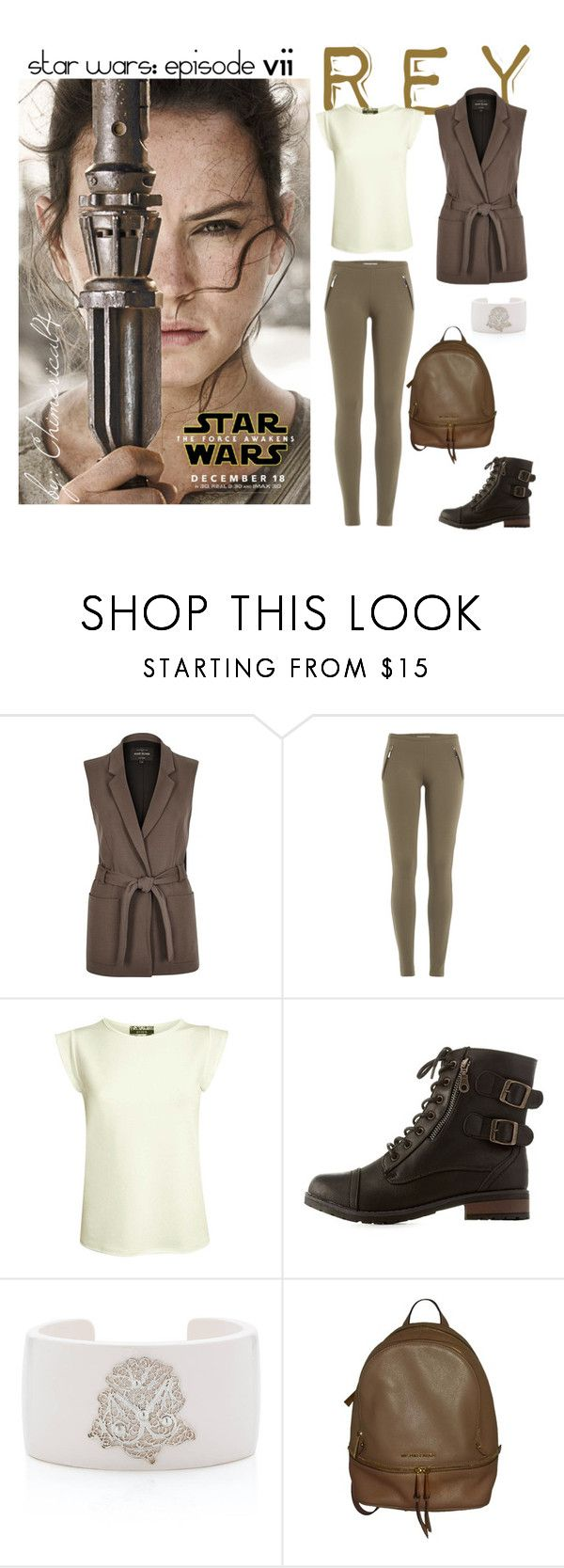 """Star Wars: Rey Skywalker"" by chimerical4 on Polyvore featuring River Island, Emilio Pucci, Pilot, Charlotte Russe, Arabel Lebrusan and Michael Kors"