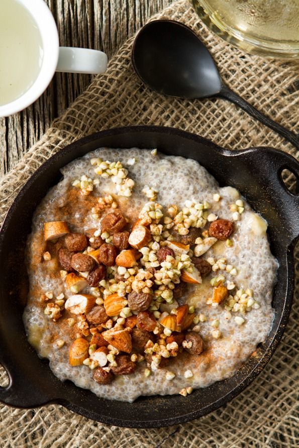 Chia Seed Breakfast Bowl >>> Chia is one of the best ways to start your morning and has been dubbed one of the healthiest foods ever. It's protein rich and gives your digestional tract a cleanse. It's also a fun texture and so great for weight-loss.