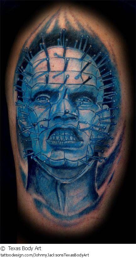 A tattoo design picture by  Texas Body Art: dark,evil,devil,demon,blue,death,horror,pinhead,hellraiser