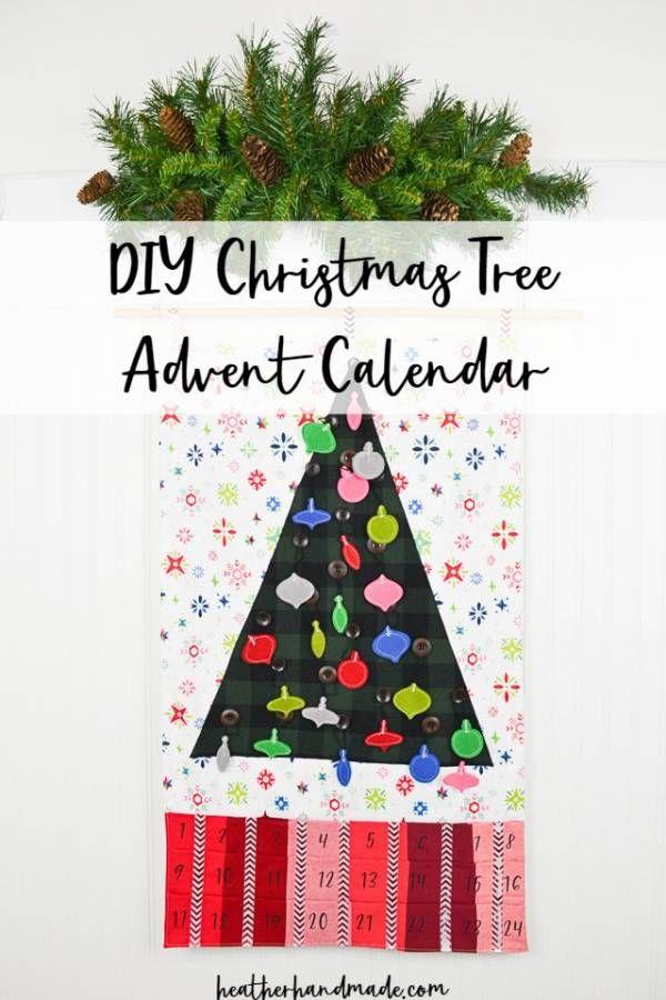 Sewing Tutorial Christmas Tree Advent Calendar Christmas Tree Advent Calendar Christmas Sewing Projects Diy Christmas Tree