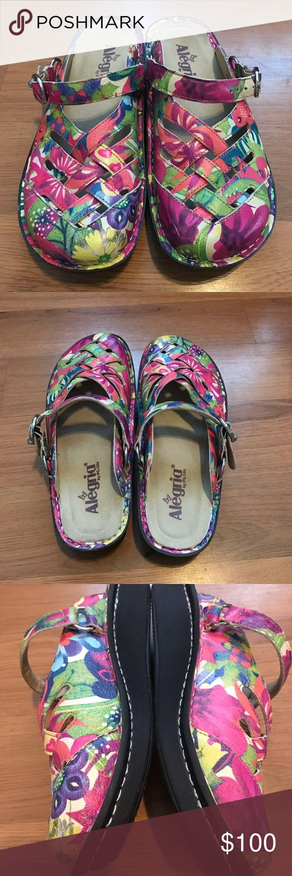 Algeria Sandals Only worn a handful of times! Colorful and Comfortable! Size 38. Alegria Shoes Sandals