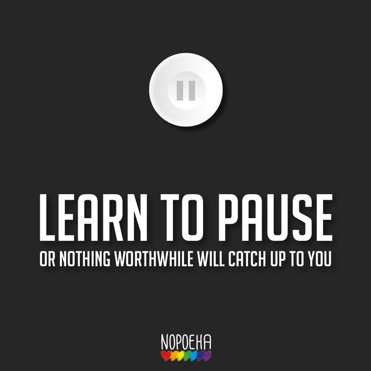 Learn to pause mindfulness