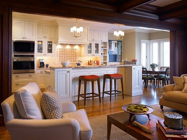 The pros and cons of open versus closed kitchens design islands and kitchen living - Small spaces channel concept ...