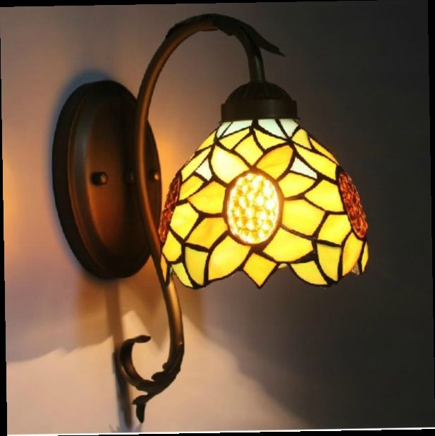 48.95$  Watch here - http://alium3.worldwells.pw/go.php?t=32724090445 - Mediterranean stained glass wall sconce Tiffany wall lamp with 5W LED bulb