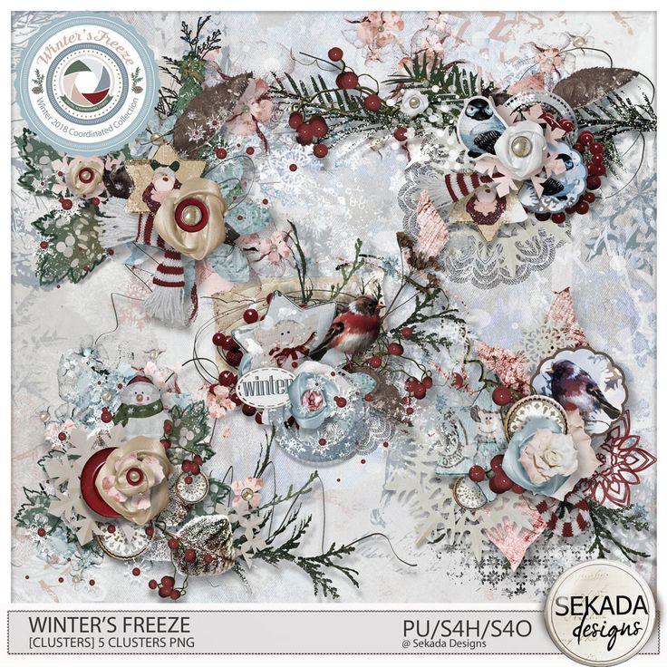 Digital Art :: Element Packs :: Winters Freeze [Clusters] by Sekada Designs