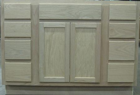 Barthroom Vanity Sink Base 42Unfinished Oak -VANITIES  | UNFINISHED VANITIES  | Surplus Building Materials