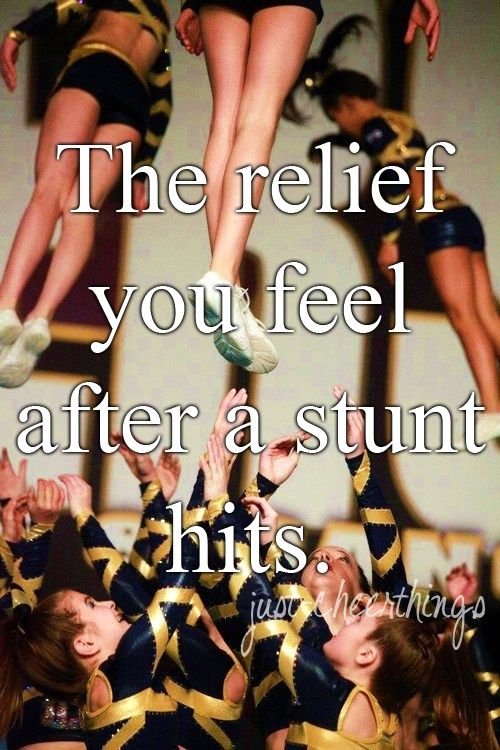 Except for that you still have more to go. The routine is not over until you hit your last pose. Then you get to cry with your team because they were so happy.