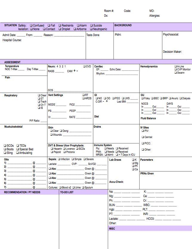 The 25+ best Nurse brain sheet ideas on Pinterest Nurse report - shift report template
