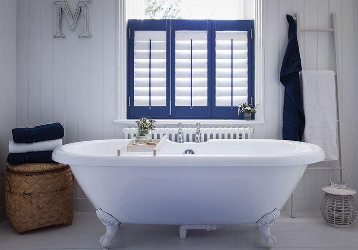 Blue shutters