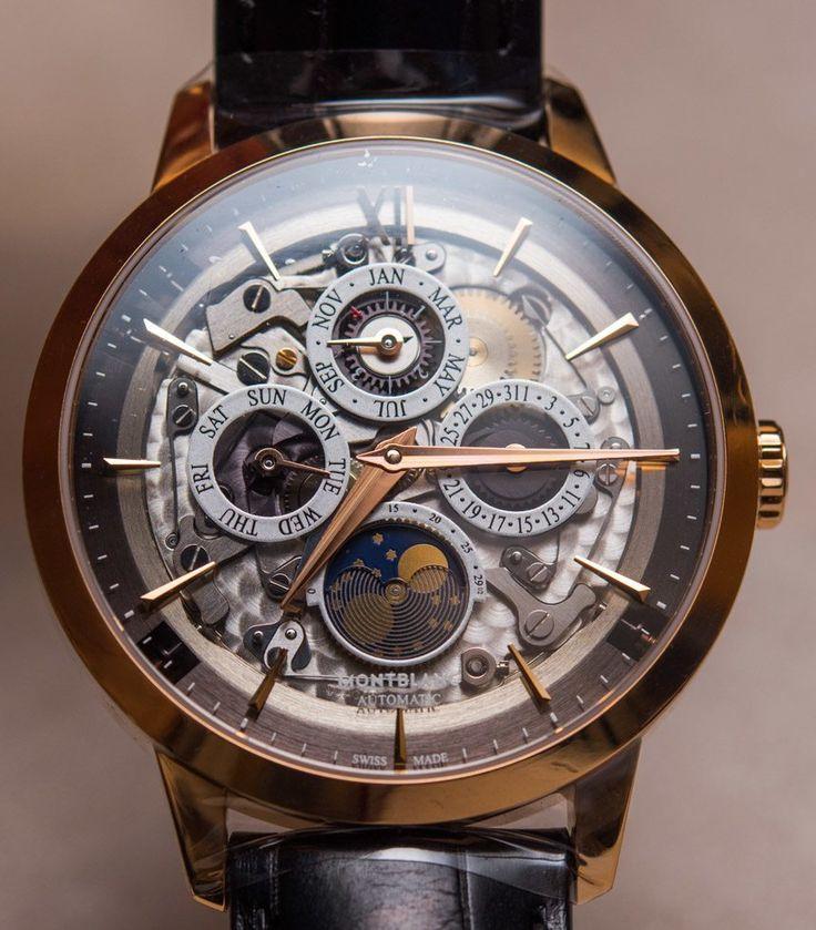 Montblanc Heritage Spirit Perpetual Calendar Skeleton Sapphire Dial