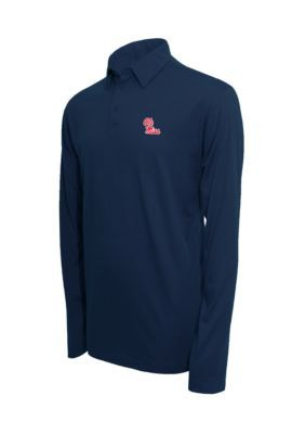 Campus Specialties Ole Miss Rebels Long Sleeve Polo Shirt - Heather Blue - 2Xl