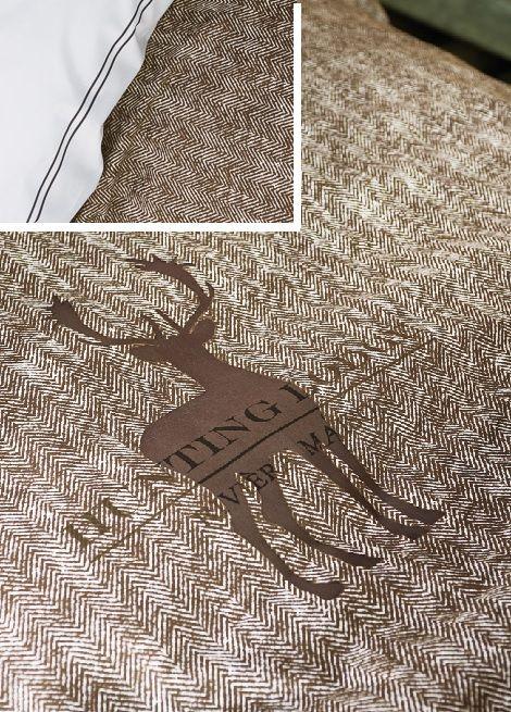 Riviera Maison Hunting Lodge dekbedovertrek sand open haard herfst winter slaapkenner theo bot