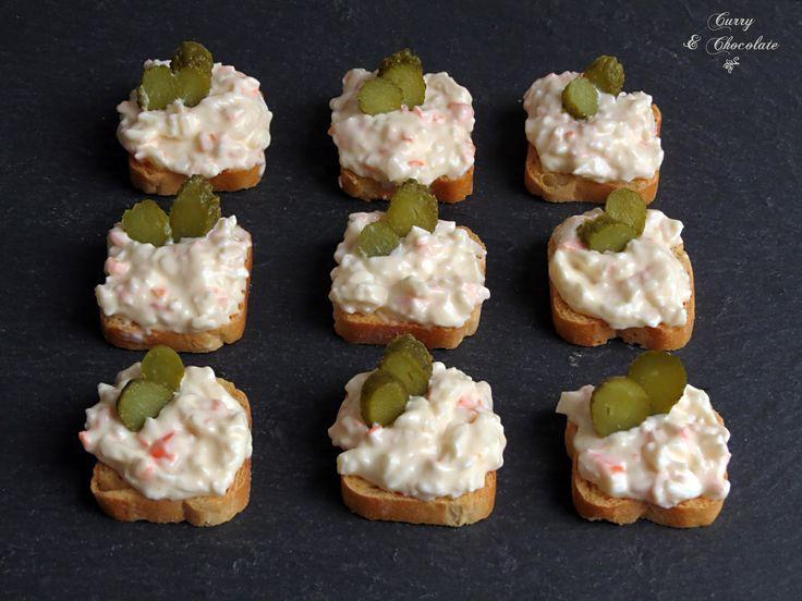 M s de 25 ideas incre bles sobre bocadillos faciles y for Canape de cangrejo